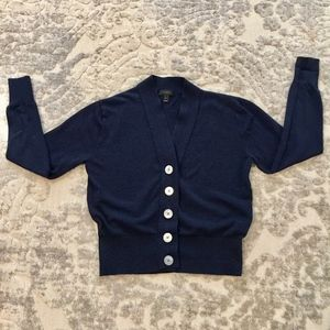 J. Crew Navy button up Cardigan, Sz S